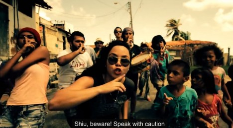 Construção Coletiva take the streets in this powerful Brazilian Rap da Rua #NoWorldCup.