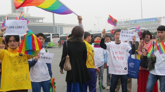 Xiang Xiaohan's organization has organised a number of events to raise the profile of gay and lesbian in Hunan province (Photo, courtesy of Xiang Xiaohan)